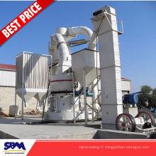 Chaîne de production célèbre de gypse de marque de SBM, pulvérisant de poudre de chaux