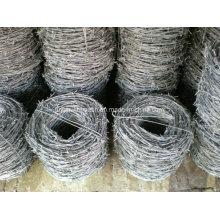 Arame de aço de baixo teor de carbono de alta qualidade Preço baixo Arame farpado para limite de grama, estrada de ferro, rodovia