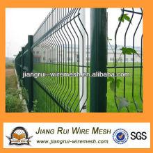 Зеленый винил покрытием сварной сетки забор (Китай производитель)