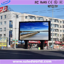 El panel video a todo color al aire libre de la pantalla de pared del alto brillo LED de P10 SMD3535 para hacer publicidad