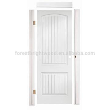 Интерьер гостиной Ванная комната пустотные Prehung отлитая в форму HDF дверь, HDF формованные двери