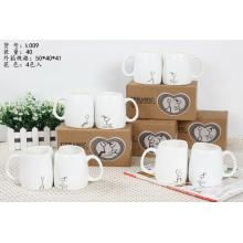 Love Characters White Mugs Gift Set