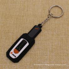 Forme de bouteille personnalisée 2D Soft PVC Keychain à l'usine la moins chère
