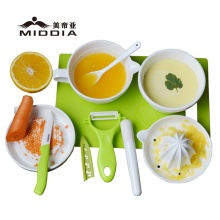 Ceramic Kitchen Mills for Baby Food Grinder/Juicer/Knife/Peeler Set