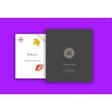 Impresión de encargo de la tarjeta de la invitaci