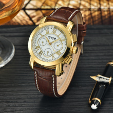 Minimalist gold case branded women dress watch