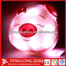 Мультфильм свиной головы формы детей освещенные подушки животных