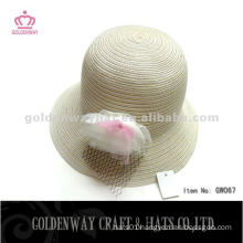 Ivory Wholesale straw hats with flower GW067