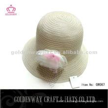 Ivory Оптовые соломенные шляпы с цветком GW067