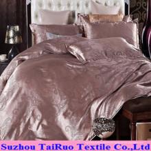Satén de seda Jacquard para juego de sábanas
