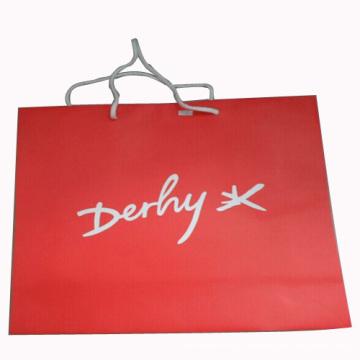 Saco de papel artesanal para embalagem e compras (SW101)