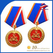 billige benutzerdefinierte Emaille Ehre Medaille mit Band