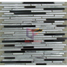 Marble Mix Shining Powder Glass and Stainless Steel Mosaic (CFM855)