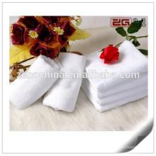 100% algodão super macia toalha de rosto de alta qualidade branco para Spa ou Hotel