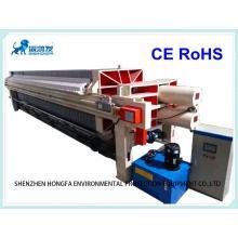 Prensa de filtro de membrana automática de tamaño 1500