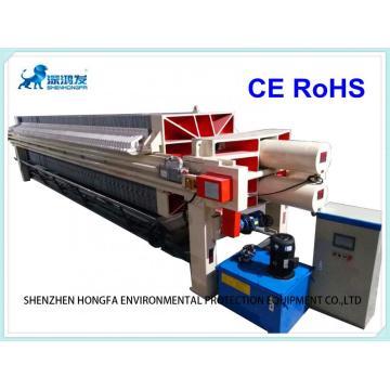 Filtro prensa automática de membrana tamanho 1500