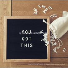 Placa de madeira de feltro placa de carta de publicidade 10x10 polegadas