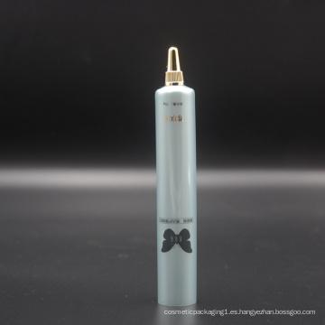 Tubo cosmético de plástico D22mm para gel de cuidado de la piel con tapón de rosca de oro