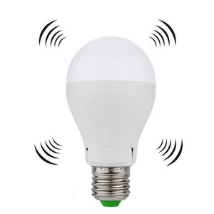 7W E27 Night Light Motion Sensor LED-lampa