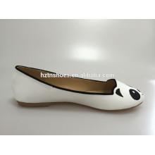 Gilrs Cutalbe jolie panda ou tout animal print chaussure plate à bout arrondi
