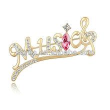 Großhandel Schal Clip neuesten Design Gold Brosche