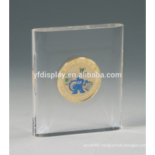 high polish Souvenir Coin embedment display block