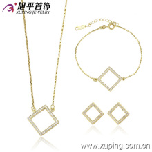 Chine Vente en gros Xuping Hot vente 14k plaqué or luxe bijoux ensemble