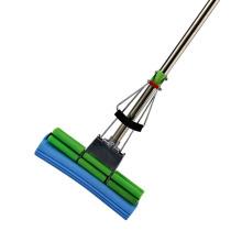 Nouveaux produits respectueux de l'environnement Ménage à double rouleau à vadrouille éponge télescopique en PVA