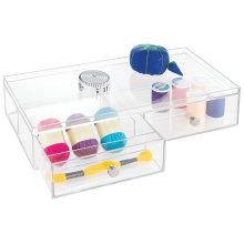 Organisation acrylique de boîte de rangement à la maison en gros