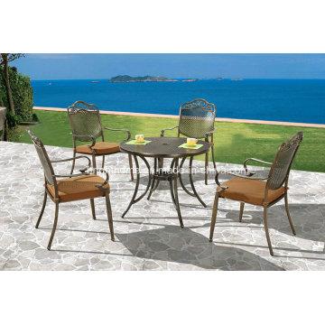 Nuevo diseño empilable utilizado muebles de aluminio fundido de restaurante