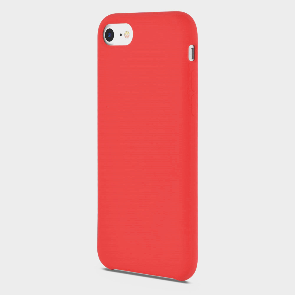 red liquid silicone phone cover