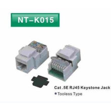 Tooless Cat5E RJ45 Keystone Jack