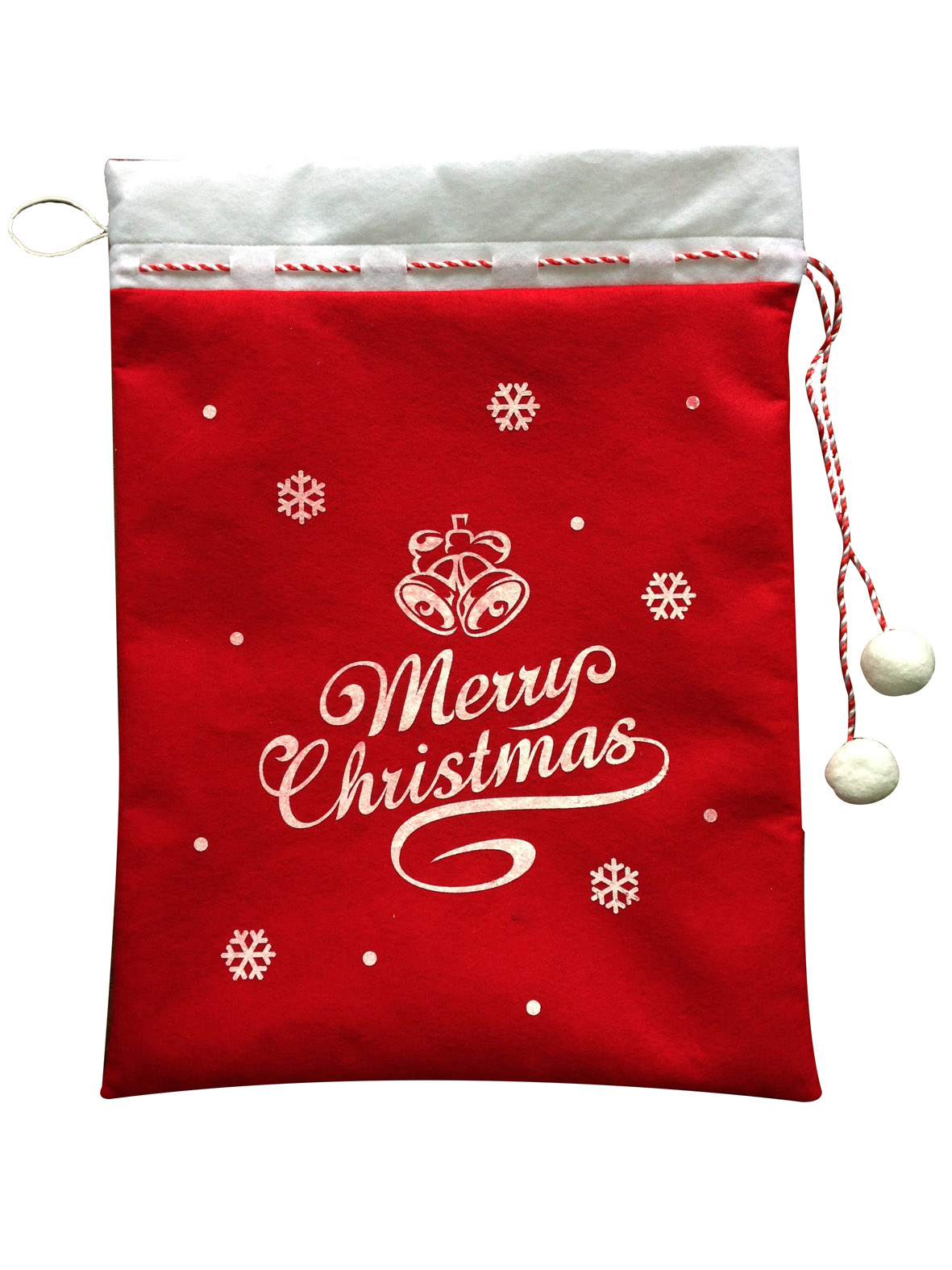 Santa And Snowman Christmas Sack