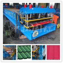 Überdachung Schritt Fliese Roll Formmaschine, glasierte Ziegel Roll Formmaschine