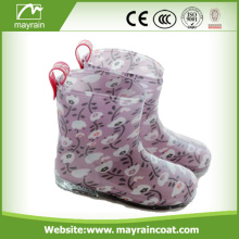 Lovely Kids Bright Color Rainboots With Cartoon Printing