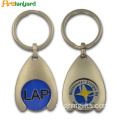 Custom Metal Token Xe đẩy Coin Holder Keychain