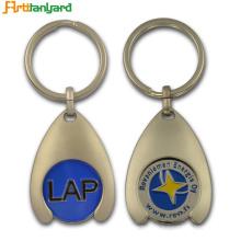 Porte-clés de porte-monnaie personnalisé de jeton de métal