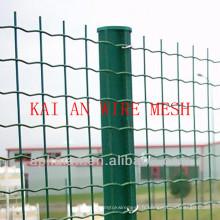Clôture en treillis métallique revêtue de pvc