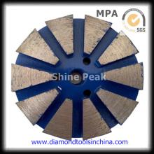 Almohadilla de pulido de diamante de metal para piso de piedra de granito de mármol