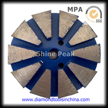 Almofada de polimento do diamante do metal para o assoalho de pedra do granito de mármore