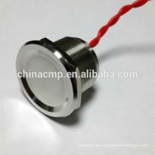 Interruptores piezoeléctricos impermeables de larga duración, de acero inoxidable, interruptores antivandalismo