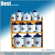 ceramic salt and pepper and sugar set