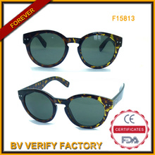 Las mujeres de moda gafas de sol con marco redondo (F15183)