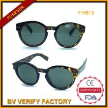 Mulher na moda óculos com armação redonda (F15183)