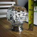 Big Dia. 50mm Clear White Crystal Glass Ball Door Knob in Chrome