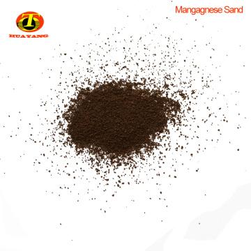 MnO2 conteúdo 35% manganês areia filtro de mídia para purificação de esgoto