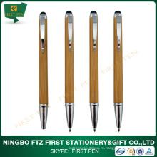 Twist Slim Bamboo Eco Pen с стилусом
