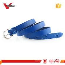 Cinturão de couro completo de mulheres com fivela de liga