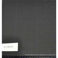Polyester und Wolle Karo Check Wolle Kaschmir Anzug Stoff Designer Stoff