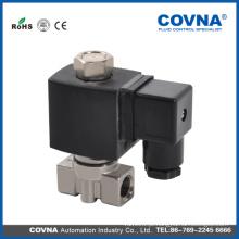 COVNA Válvula solenóide de atuação direta Micro Válvula solenóide de aço inoxidável Válvula
